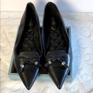 Michael Kors Black Leather Nancy Flats